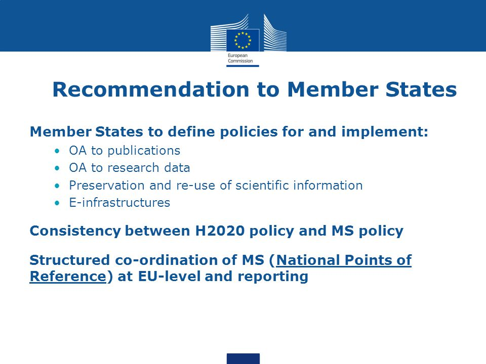 Recommendation to Member States