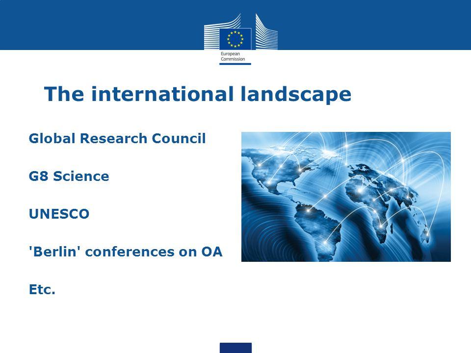 The international landscape