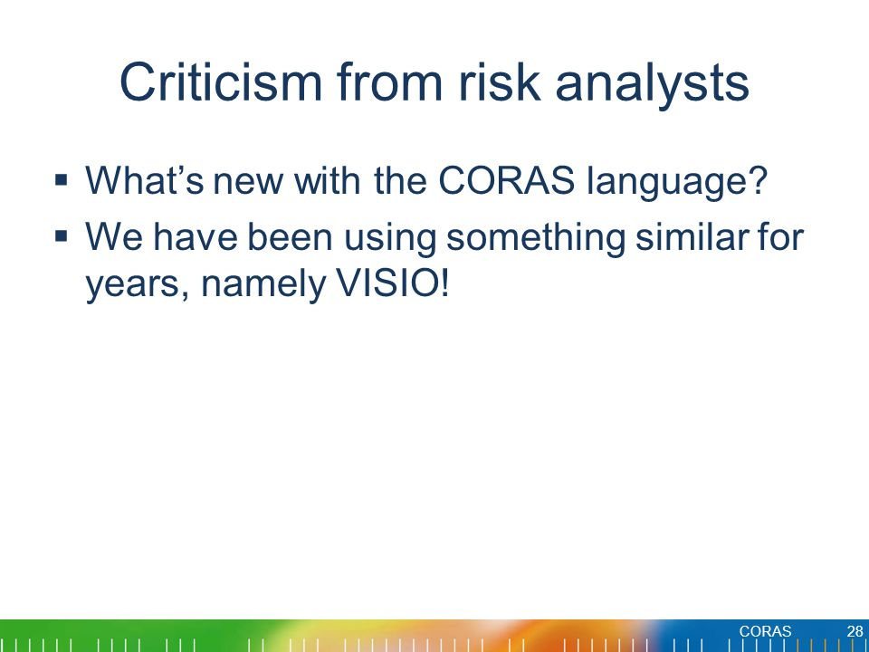 Criticism from risk analysts