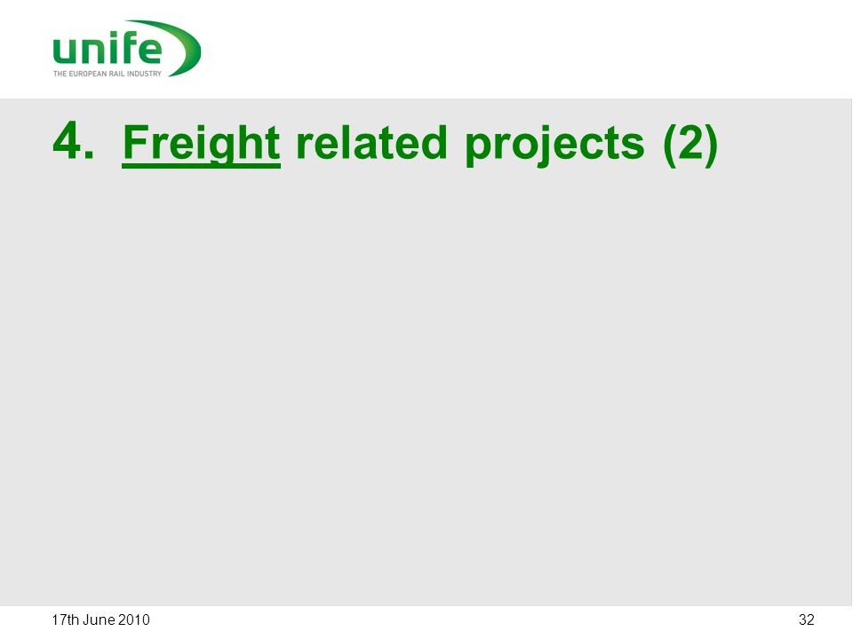 Freight related projects (2)
