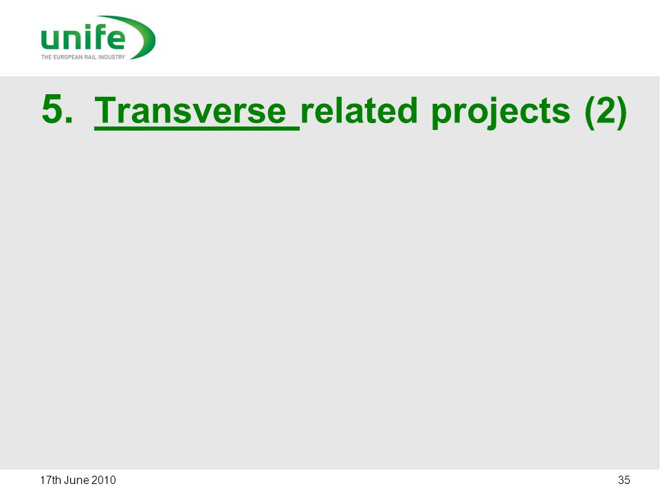 Transverse related projects (2)
