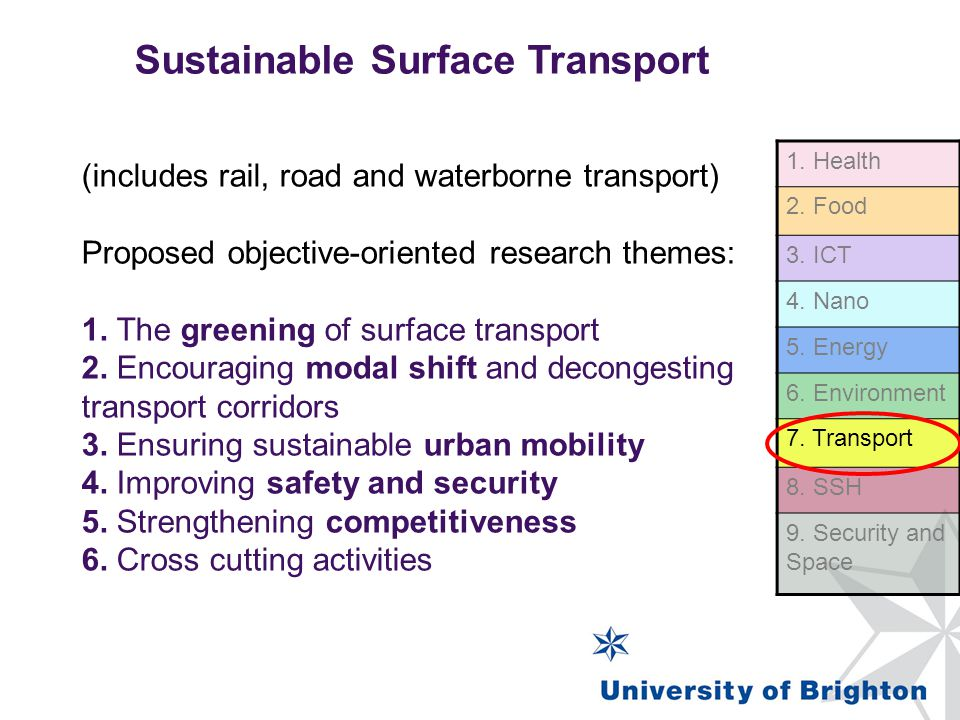 Sustainable Surface Transport