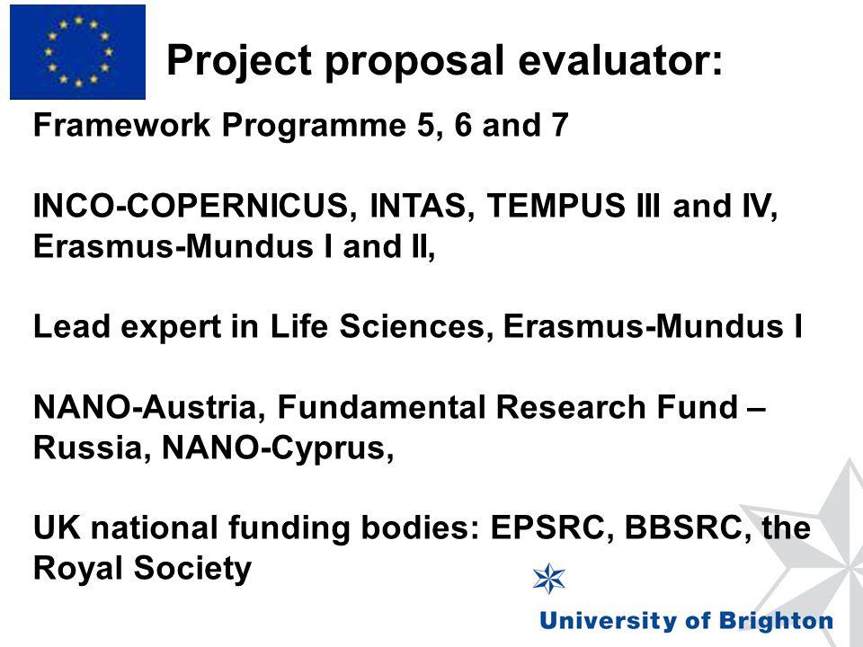 Project proposal evaluator: