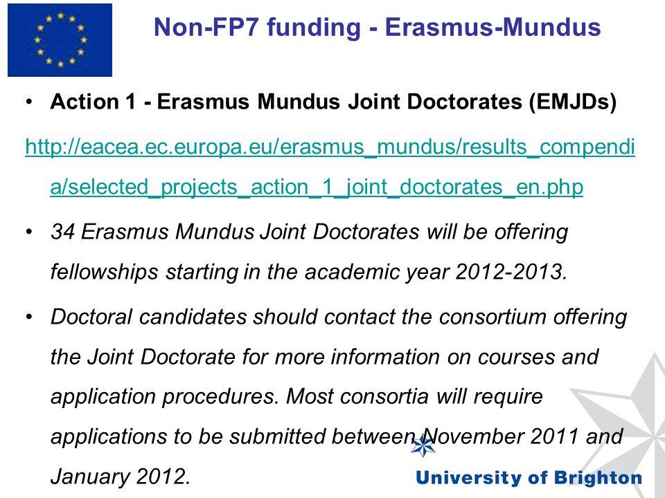 Non-FP7 funding - Erasmus-Mundus
