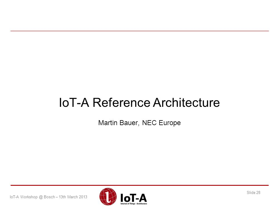 IoT-A Reference Architecture