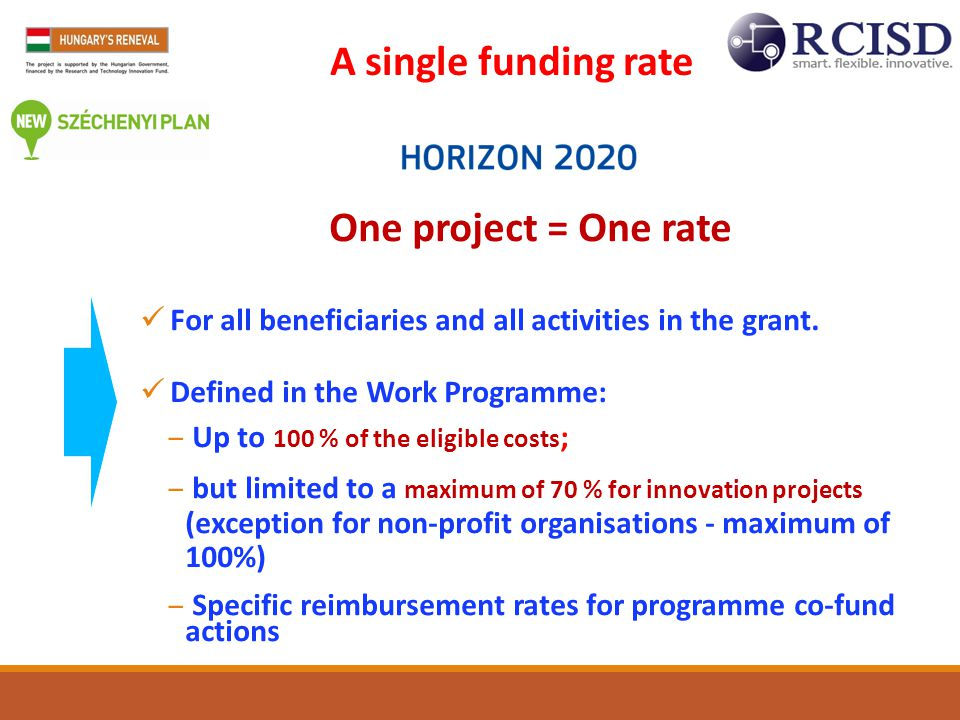 A single funding rate One project = One rate