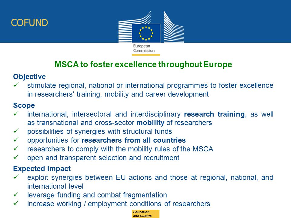 MSCA to foster excellence throughout Europe