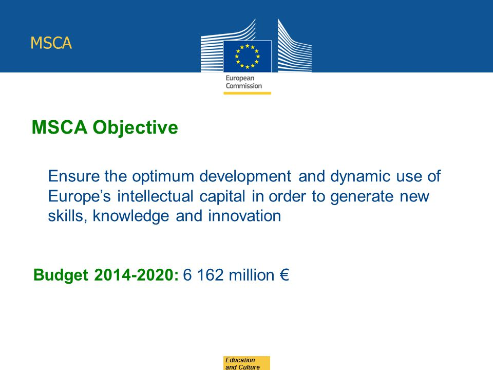 MSCA MSCA Objective.