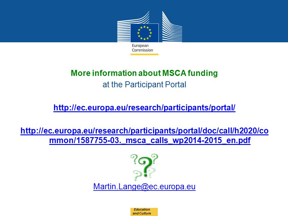 More information about MSCA funding