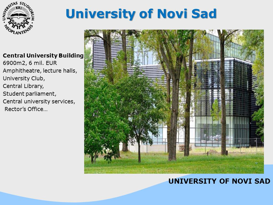 University of Novi Sad UNIVERSITY OF NOVI SAD