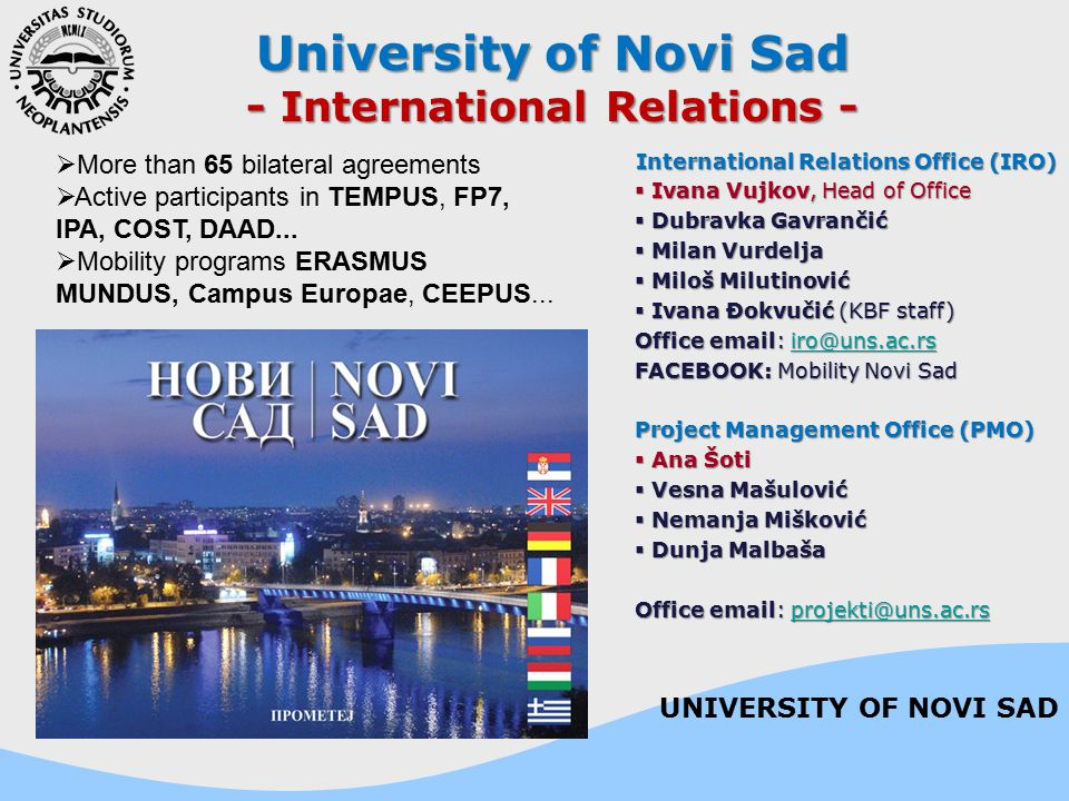 - International Relations - International Relations Office (IRO)