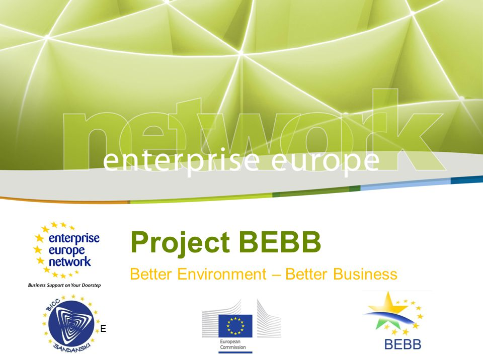 Project BEBB Better Environment – Better Business LOGO HERE