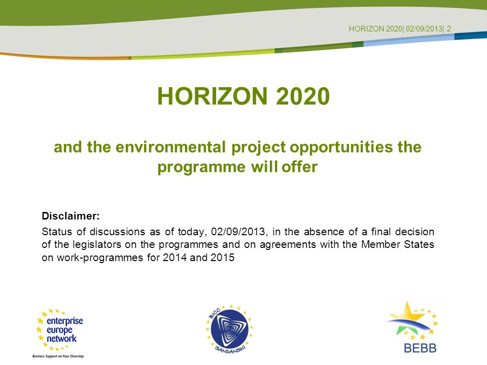 and the environmental project opportunities the programme will offer