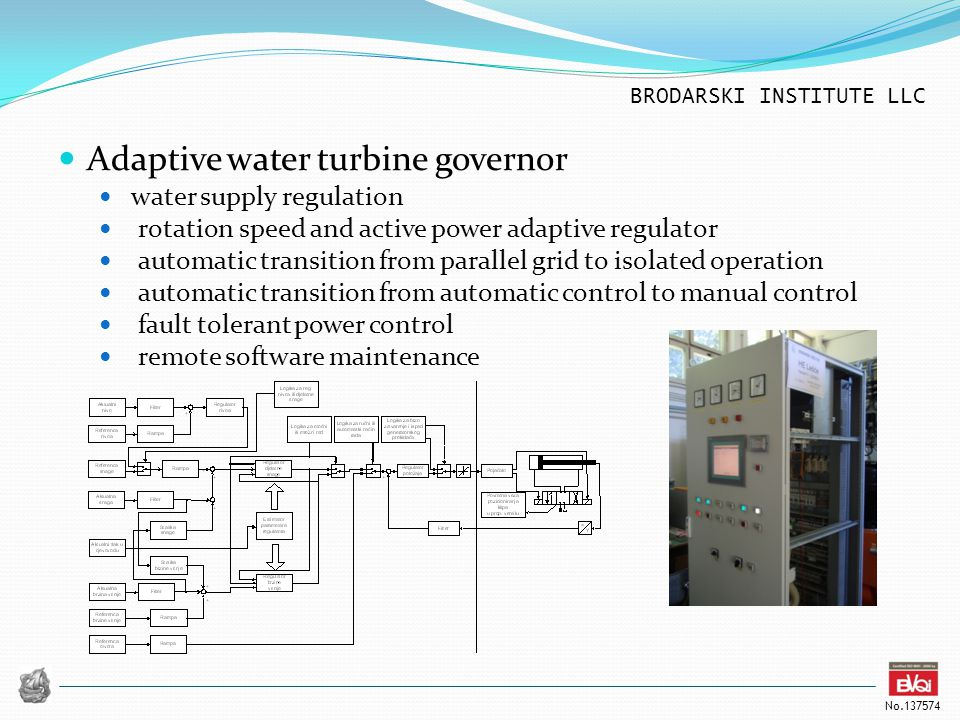 Adaptive water turbine governor