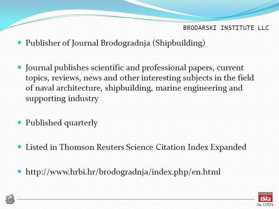 Publisher of Journal Brodogradnja (Shipbuilding)
