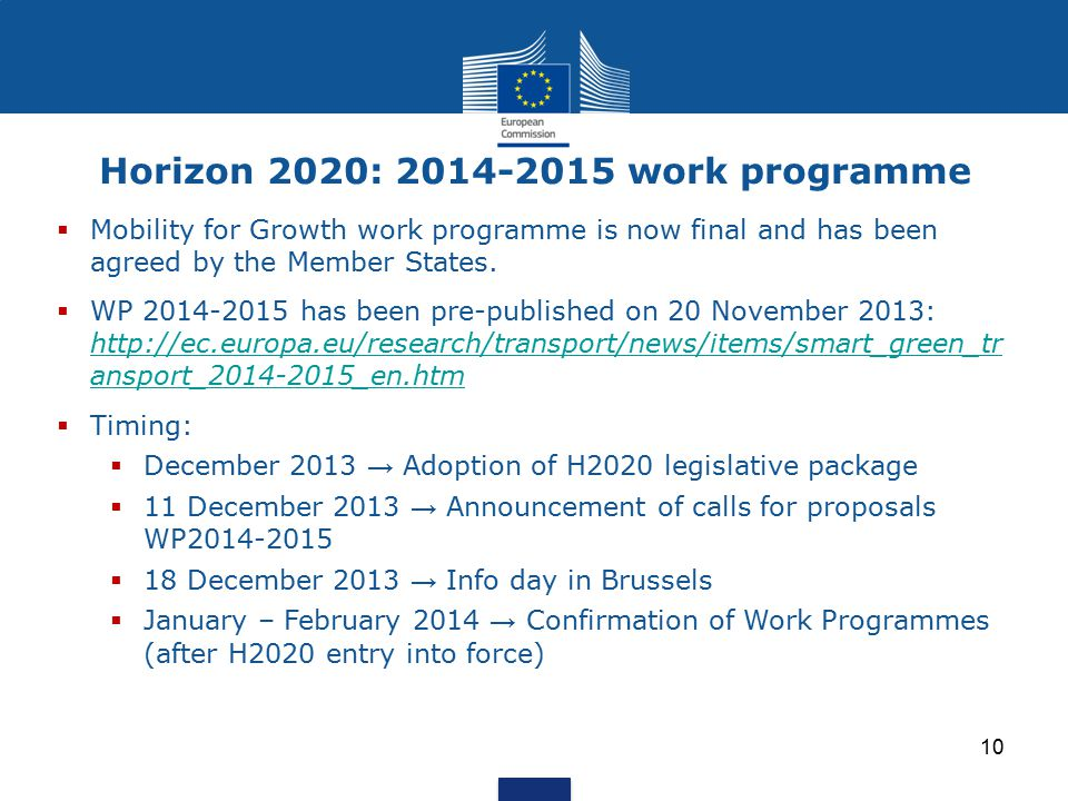 Horizon 2020: 2014-2015 work programme