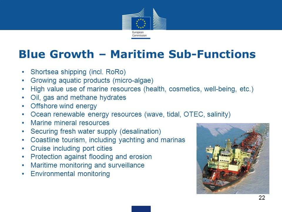 Blue Growth – Maritime Sub-Functions