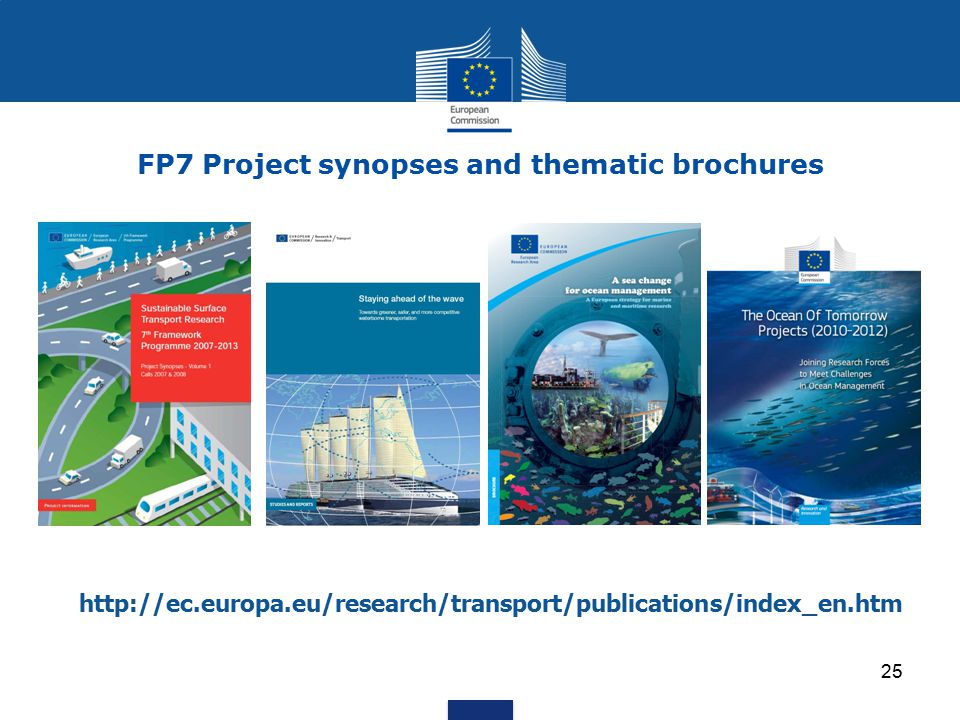 FP7 Project synopses and thematic brochures