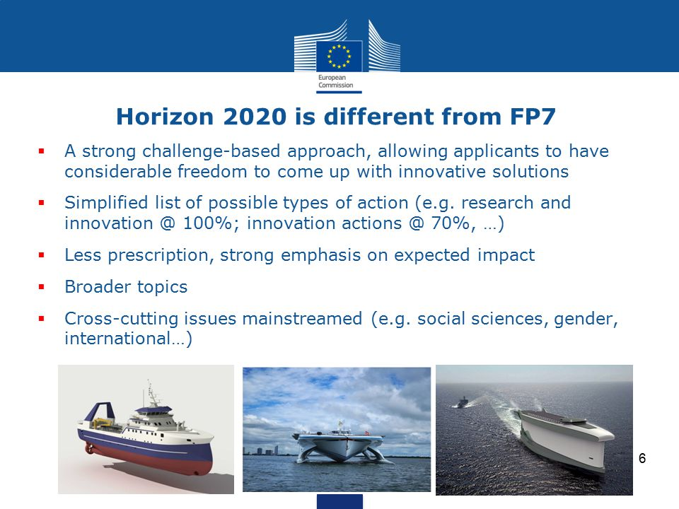 Horizon 2020 is different from FP7