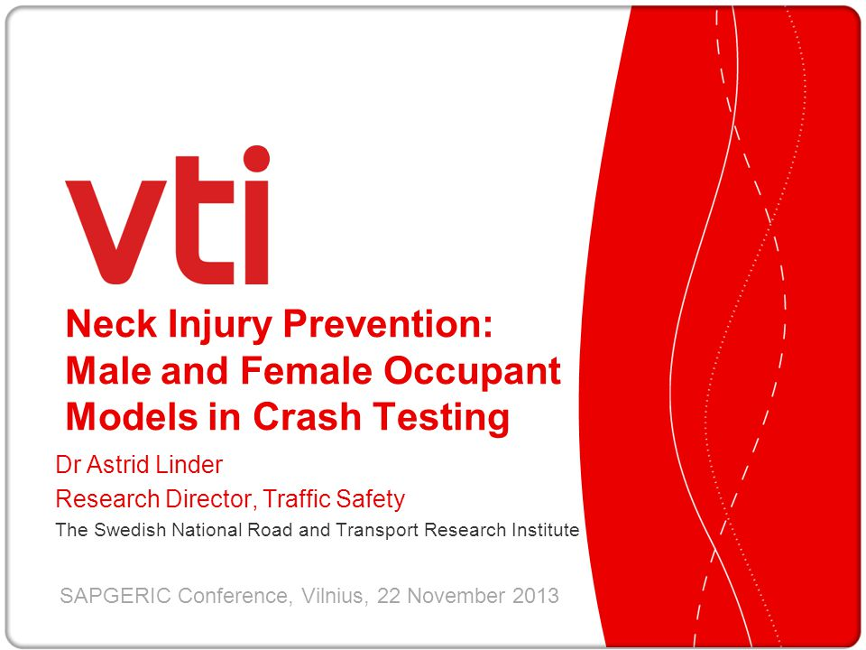 Neck Injury Prevention: Male and Female Occupant Models in Crash Testing