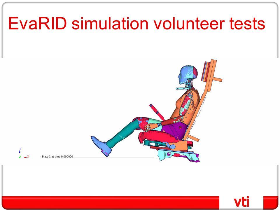 EvaRID simulation volunteer tests