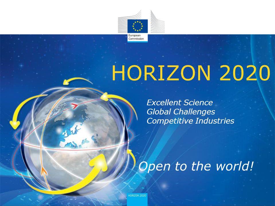 HORIZON 2020 Open to the world!