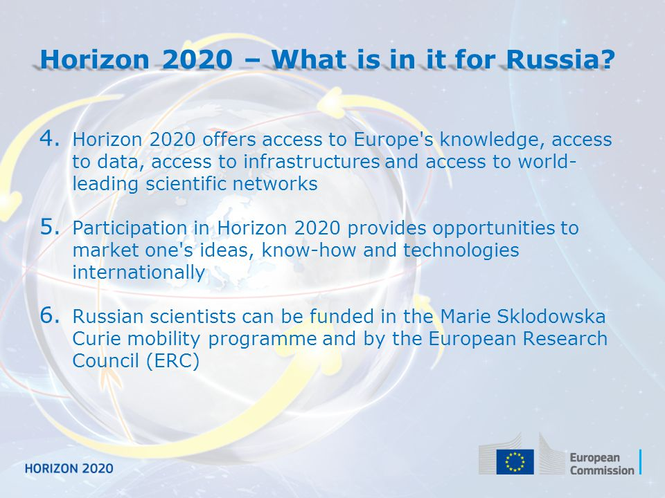 Horizon 2020 – What is in it for Russia
