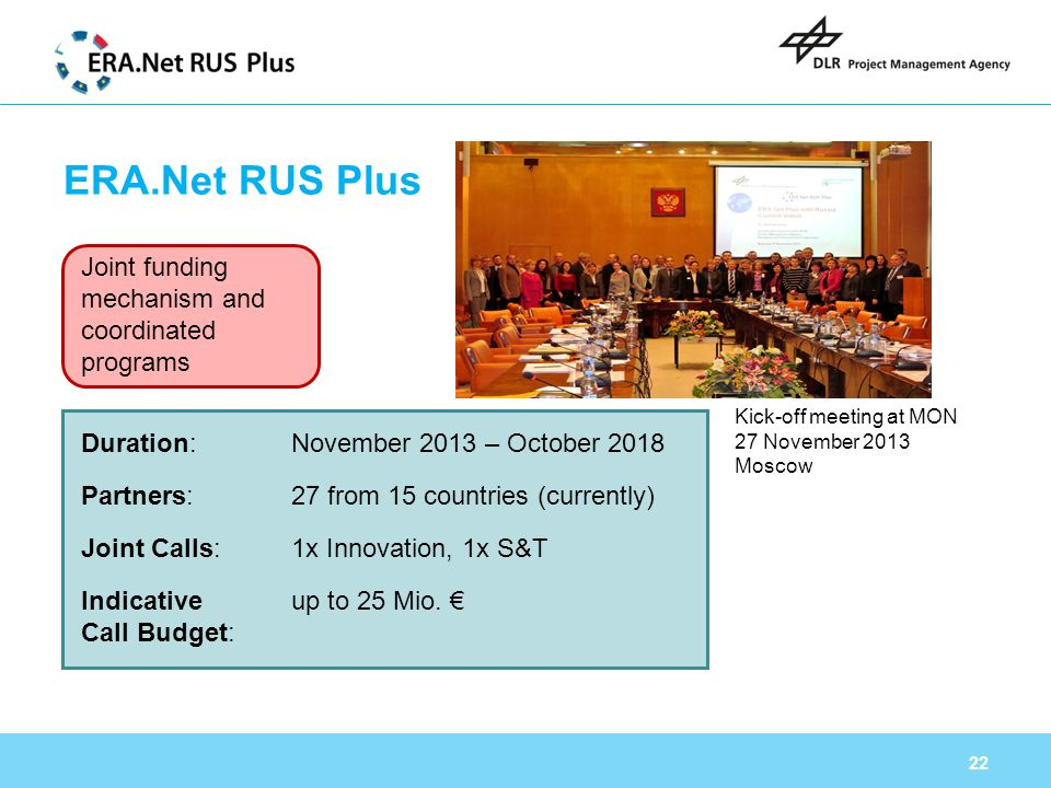 ERA.Net RUS Plus Joint funding mechanism and coordinated programs