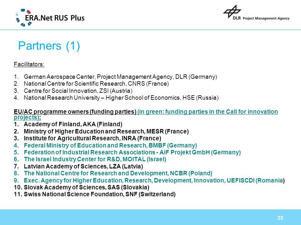 Partners (1) Facilitators: