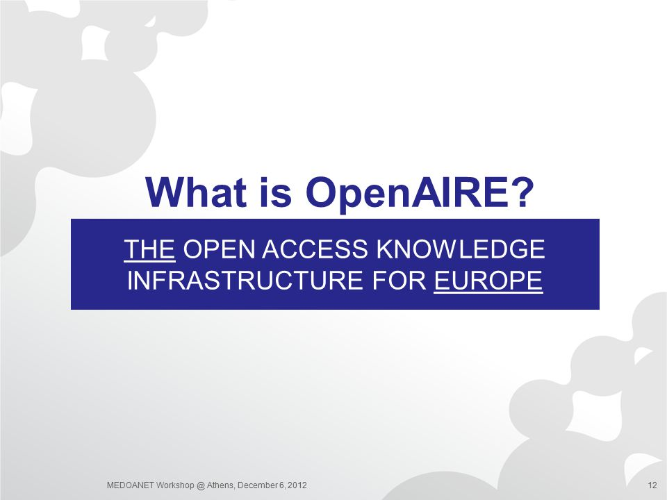 THE Open Access Knowledge infrastructure for Europe