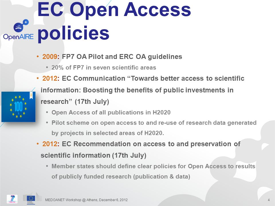 EC Open Access policies