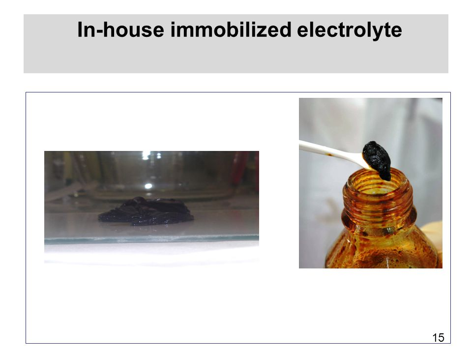 In-house immobilized electrolyte