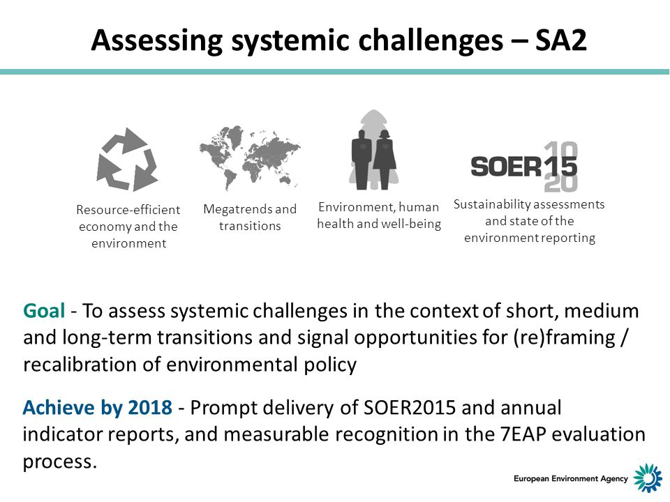 Assessing systemic challenges – SA2