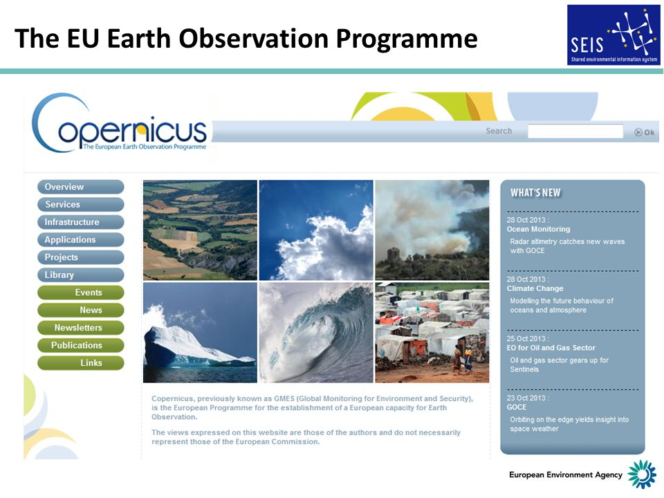 a crucial moment for Europe The EU Earth Observation Programme