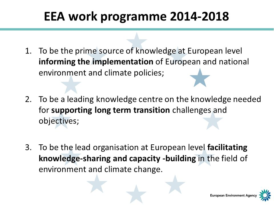 EEA work programme 2014-2018 a crucial moment for Europe