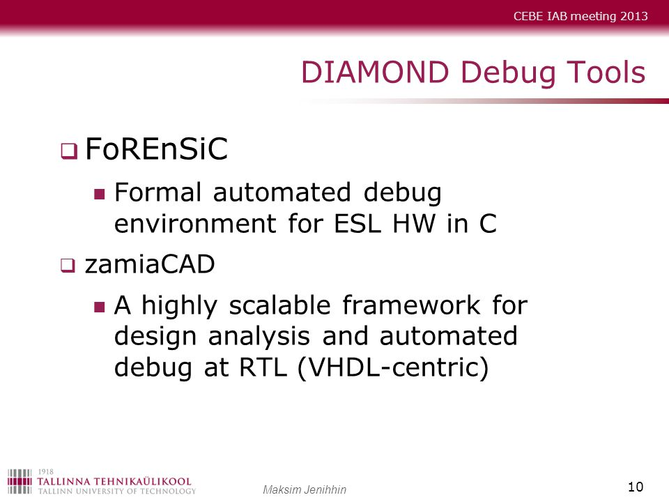 DIAMOND Debug Tools FoREnSiC