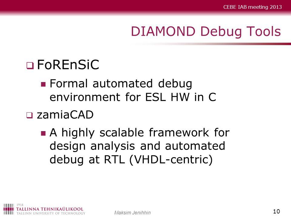 DIAMOND Debug Tools FoREnSiC