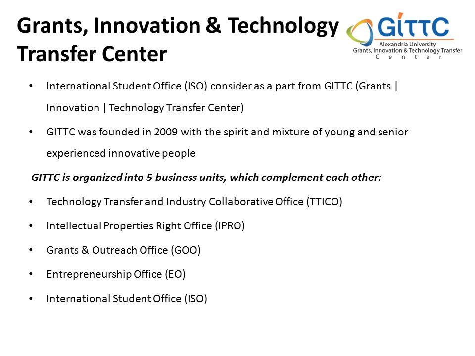Grants, Innovation & Technology Transfer Center