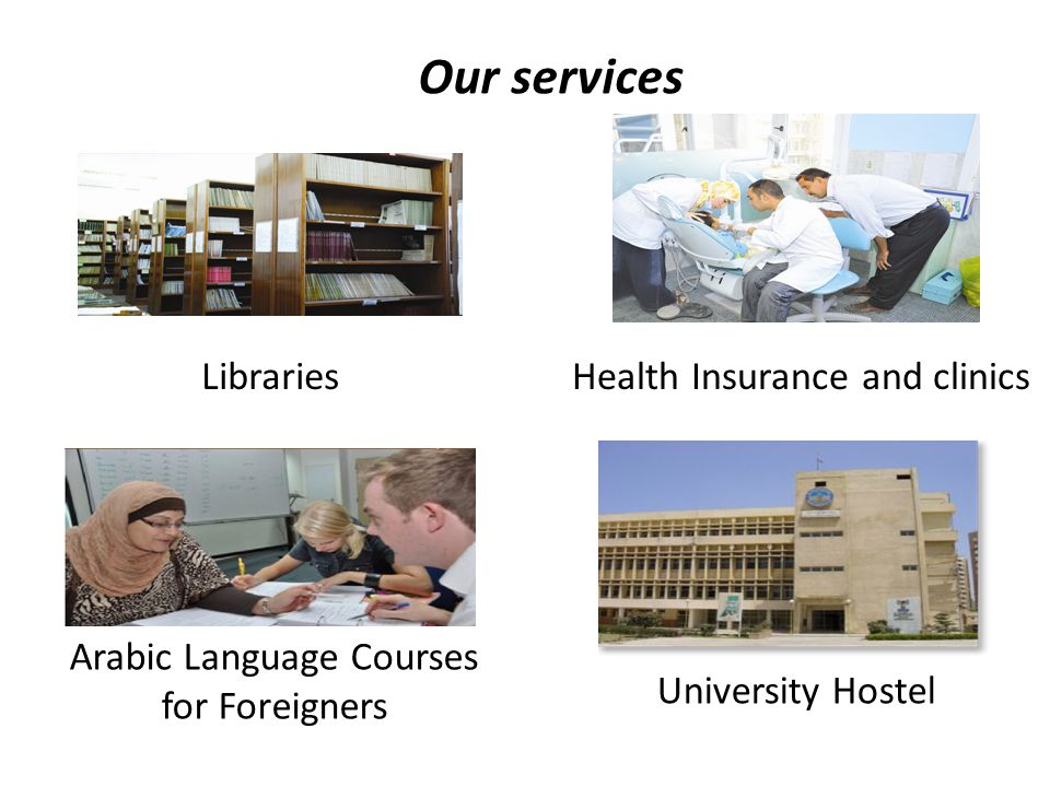 Our services Libraries Health Insurance and clinics