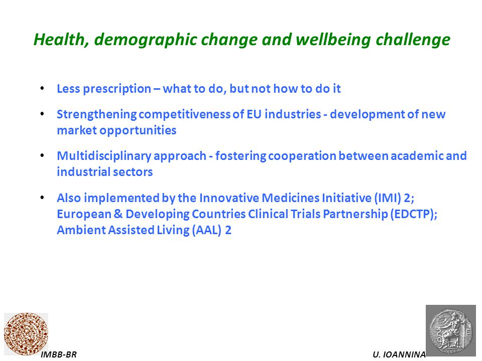Health, demographic change and wellbeing challenge