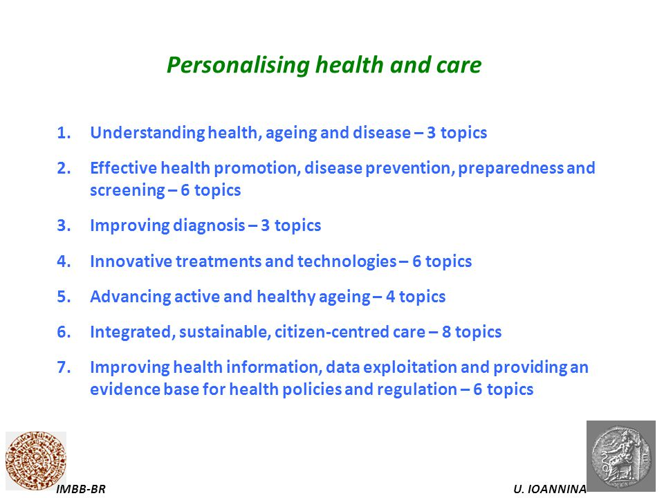 Personalising health and care