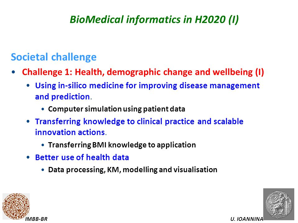 BioMedical informatics in H2020 (I)