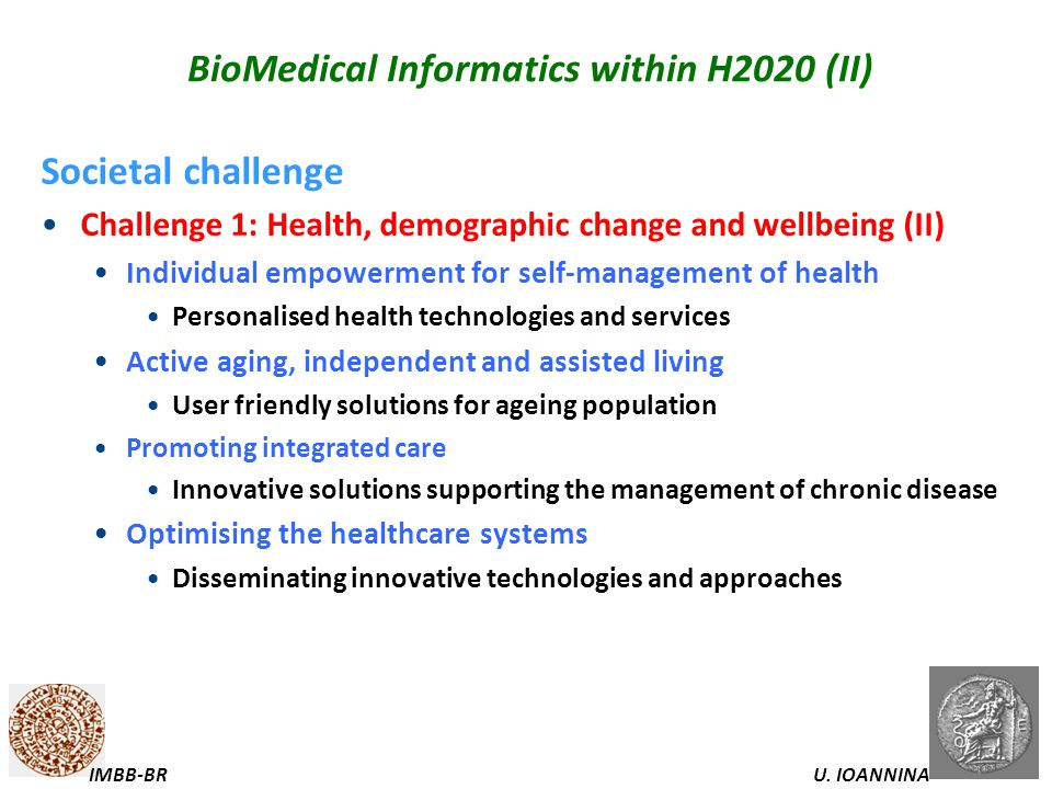 BioMedical Informatics within H2020 (II)