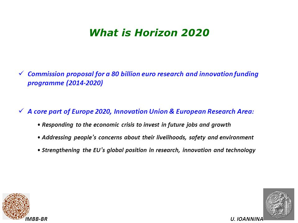 What is Horizon 2020 Commission proposal for a 80 billion euro research and innovation funding programme ( )