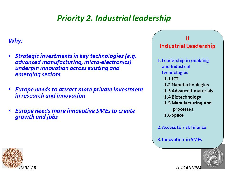 Priority 2. Industrial leadership