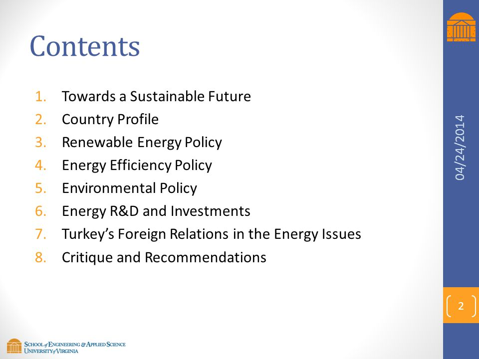 Contents Towards a Sustainable Future Country Profile
