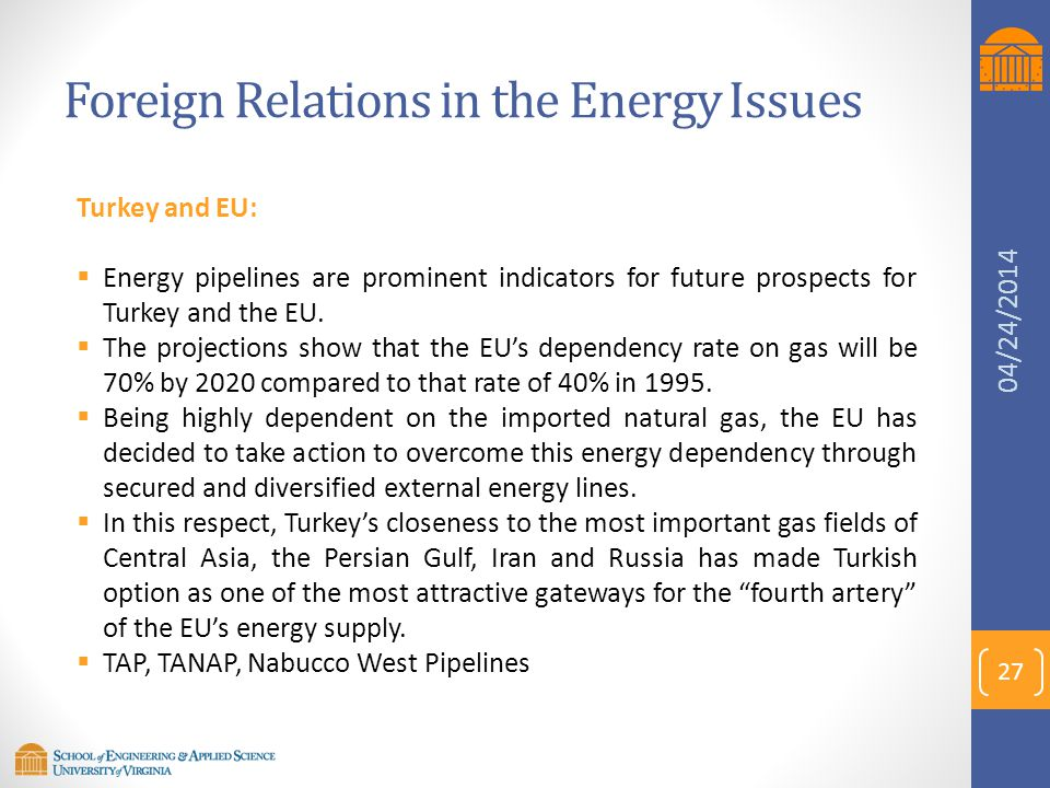 Foreign Relations in the Energy Issues