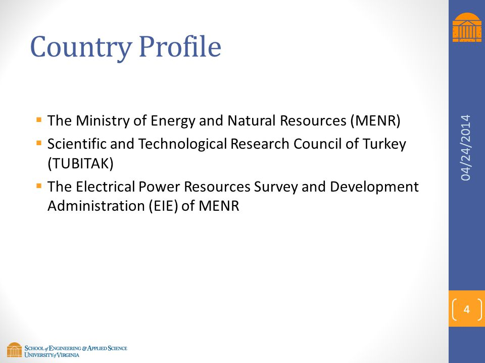 Country Profile The Ministry of Energy and Natural Resources (MENR)