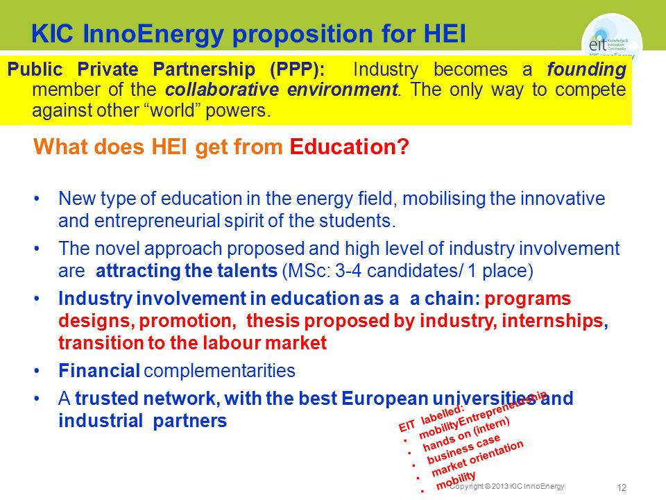 Copyright © 2013 KIC InnoEnergy