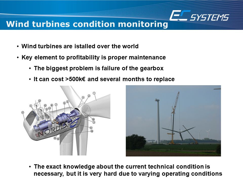 Wind turbines condition monitoring